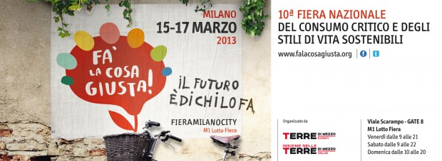 Salvaraja partecipa a Fa' la cosa giusta! / 15-17 Marzo 2013